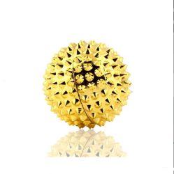 금 색깔 짜개진 조각 색깔 5.6 Cm를 가진 자석 안마 공