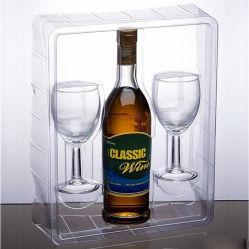 Bandeja de embalagem eco-friendly pacote de vinho com blister de alimentos (blister)
