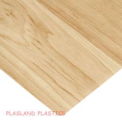 Woodgrain van pvc Folie/Blad van de Korrel van pvc het Houten