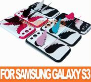 Samsung Galaxy S3 Siii I9300 Flip чехол мрамор белый с Angel, крылья (TWT-S3-2018)