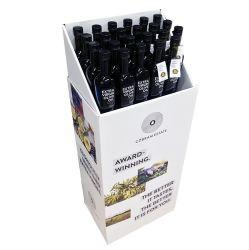 Vin Présentoir papier carton vente au détail avec benne de déversement de montage pour cartes de stockage