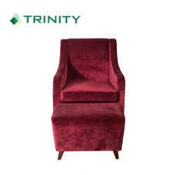 A madeira maciça de estofos Hotel Leisure Sofá cadeira com excelente qualidade