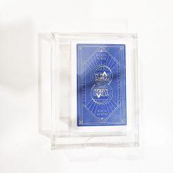 Пользовательские Plexiglass Yageli PMMA Poker случае держатель лотка удалите акриловые акриловые игральную карту дела