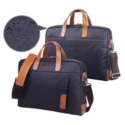 Индивидуальный логотип Водонепроницаемая сумка для переноски Canvas мужчин в портфеле компании ноутбука