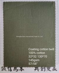 Il tessuto rivestito della saia del cotone per il cappotto ansima l'Anti-Umidità dell'Anti-Acqua dell'indumento