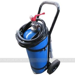 Sri Lanka Blue Cylinder 25kg ABC Powder Wheeled Trolley Fire Extinguisher