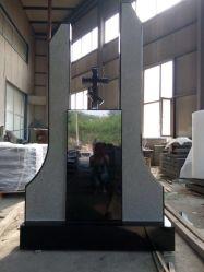 De Russische Grafsteen van de Monumenten van de Grafstenen van het Graniet van China van het Graniet van China van de Stijl Zwarte Absolute Zwarte