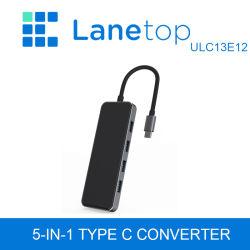Lanetop USB 3.1 tipo A USB3.0X C4+ de tipo adaptador de carga C