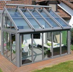 12.76mm cristal aislante del techo de vidrio laminado de aluminio Thermalbreak Villa Jardin solarium terraza jardín de invierno con obturador de rodillos eléctrico