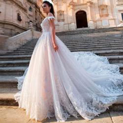 Hwd007 Bruiloft jurk Europese en Amerikaanse Custom grote Tailed bruids Toga Bride 2020 nieuwe grensoverschrijdende Waist Slotkoers V-Neck Backless