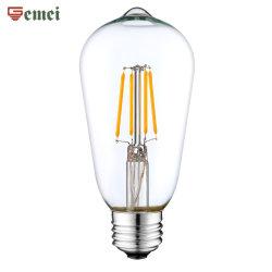 LED-gloeilampen St64 dimbare LED-lamp E27 van WiFi Control LED-lamp op basis, 4 W, 6 W, 8 W, 10 W, LED-lamp met CE-RoHS