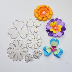 3D 종이 꽃 스크랩예약 금속 절단 다과 꽃 두 개 선물 포장 홈 장식 카드 만들기