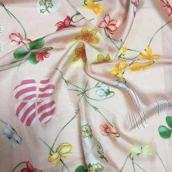 Großverkauf gedrucktes Kleid, das 100% Seide-Satin-Twill-Gewebe kleidet