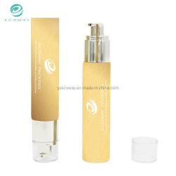 PE 50ML Airless doux nettoyant Tube de pompe à tube rond jaune Tube cosmétique