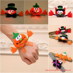Lamp Clasp GiftのHalloween Decorations Toy Pumpkin Bat Ghost Pat Circle Children Hair Shiny Piece Hand Ring
