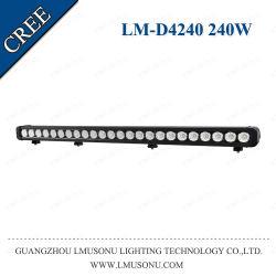Lmusonu 240W オフロードスポットフラッドコンボビーム直線 1 列 LED 照明バー 40 インチ