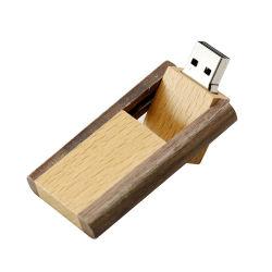 Вращение деревянные диск 32 ГБ 64ГБ с USB флэш-диск емкостью 128 МБ реальный потенциал U Memoria Flash-Stick Storage-Disk фотографии подарки