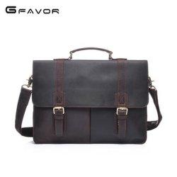"""14 """"人のためのラップトップ・コンピュータビジネス革靴の革製バッグのブリーフケース"""