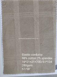 Contrôles de velours côtelé élastique de la conception de matériel de loisirs Vêtement confortable