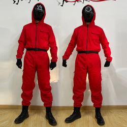 Squid Spel COS kostuum Halloween Nieuw Rood Jumpsuit Squid Spel Kostuum prestaties kostuum