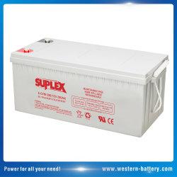 Gel de ciclo profundo VRLA UPS batería AGM SLA de Plomo-ácido de batería de potencia del inversor Solar panel 12V 200Ah