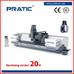 Columna de 5 ejes moviendo la metalurgia máquina CNC