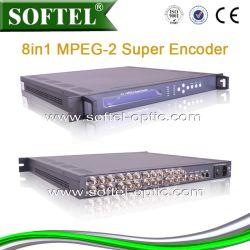 8 CVBS- en 8 MPEG-2-encoder voor audio-invoer