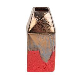 Venda por grosso de luxo moderno de cerâmica metálicas Tampo Hand-Painted decorativas Plantadeira Terra-Cotta Tampo de porcelana Decoração Decoration grés vaso de flores