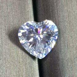 최신 인기 상품 공간 다이아몬드 반지를 위한 수정같은 여자 형식 과료 보석 목걸이 사랑 심혼 Efcolor Moissanite 팔찌