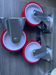 6 à 8 pouces roue industrielle européenne avec roue en polyuréthane, Centre de PP