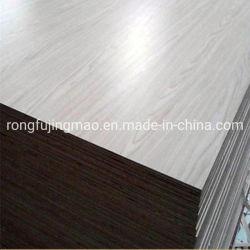 compensato laminato melammina di alta qualità di 4*8 18mm con colore solido del grano di legno per mobilia