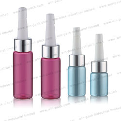 10ml leeren rosafarbene grünes Glas-Haar-Serum-Luxuxflaschen-kosmetische Verpackung