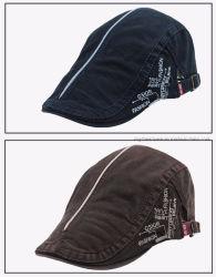 도매 고품질 편평한 수를 놓은 신문 배달원 면 담쟁이 남자의 모자 베레모 모자 다중 색깔 선택권