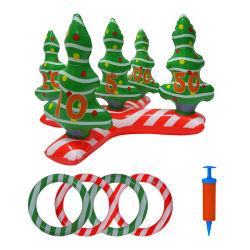 メリークリスマスのパーティー用のゲームの演劇のおもちゃ膨脹可能なPVCクリスマスツリーのリングのトスのゲームの一定のおもちゃ