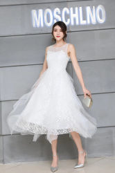No Verão de 2020 da nova moda Vestido de festa das mulheres