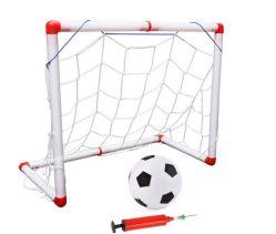 Plásticos interiores y exteriores de plegado de mini fútbol balón objetivo conjunto de la red Post