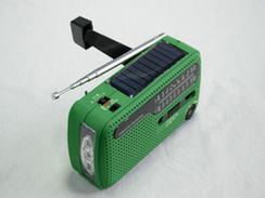 L'énergie solaire d'urgence de la manivelle Radio chargeur Dynamo Lampe torche à LED