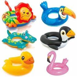 Amaon Vendas quente estilo Animal PVC inflável Anel de Natação