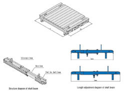 Welle-Aufzug-Shuttering Plattform-Träger für Höhenruder-Aufbau