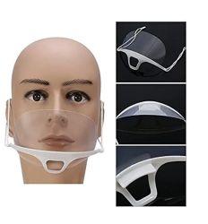 Venda quente Máscara sanitárias para restaurante /máscara facial plástica transparente / máscara transparente, com marcação podem ter pequenas encomendas
