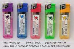 (Ítem nº BD-581) Electrónicos desechables, el gas más ligero, Encendedor Baida