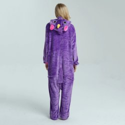 Pigiami viola dell'animale di Onesie della flanella degli indumenti da notte dell'unicorno del costume adulto all'ingrosso