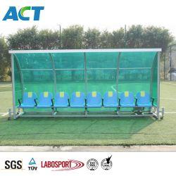 5 de StandaardBank van de Speler Seater met Plastic Zetel, de Plastic Schuilplaats van het Team van het Voetbal, de Cabine van de Speler