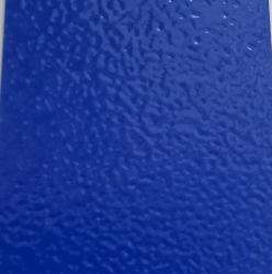 SGS revestimento em pó de poliéster titulados série azul acabamento de rugas