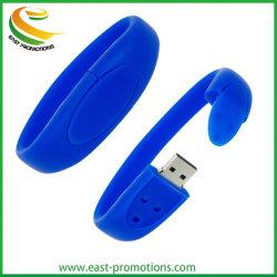 Bracelet en silicone de gros Lecteur Flash USB, bracelet de mémoire USB