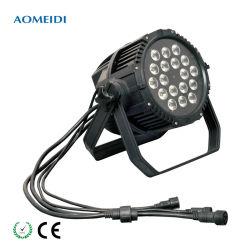18X3w RGB 3in1 DMX 512 im Freien Mini-LED NENNWERT kann Beleuchtung positionieren
