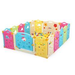 14+2 Gift van het Stuk speelgoed van de Speelplaats van de Mat van de Omheining van de Veiligheid van de Peuter van de Baby van het Huis van de Speelplaats van kinderen de Binnen Kruipende