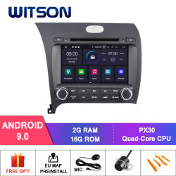 Processeurs quatre coeurs Witson Android 9.0 DVD de voiture GPS pour KIA K3/Forte/Cerato 2013 Capactive 1024*600 écran