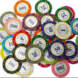 부지깽이 칩 트럼프패 Mahjong 카드 놀이