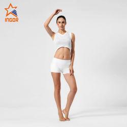 Bequeme Breathable Frauen-Sport-Abnützung-Yoga-Großhandelskurzschlüsse